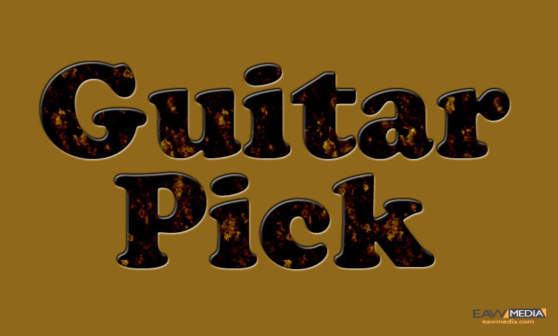Guitar Pick layer style